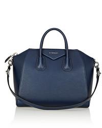 Bolso Deportivo de Cuero Azul Marino de Givenchy