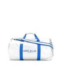 Bolso deportivo de cuero plateado de Marc Ellis