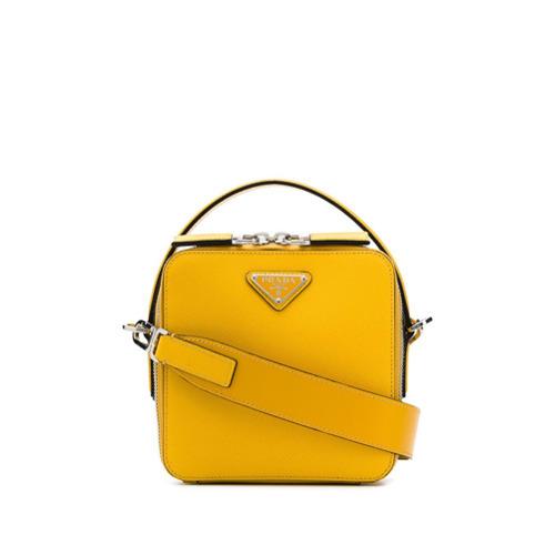 9a609447e1 Bolso mensajero de cuero amarillo de Prada, MEX$29,293   farfetch ...