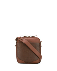 Bolso mensajero de cuero marrón de Santoni