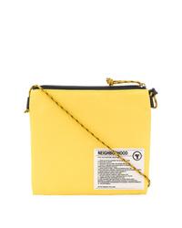 Bolso mensajero de lona estampado amarillo