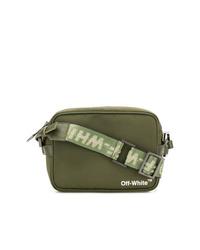 Bolso mensajero de lona verde oliva de Off-White