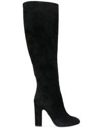 Botas a media pierna de ante negras de Dolce & Gabbana