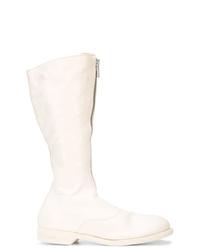 Botas a media pierna de cuero blancas de Guidi