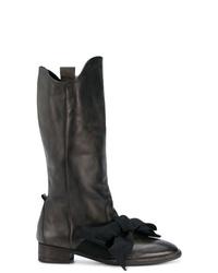 Botas a media pierna de cuero negras de Atelier Bâba