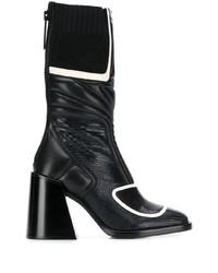 Botas a media pierna de cuero negras de Chloé