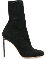 Botas a media pierna de cuero negras de Francesco Russo