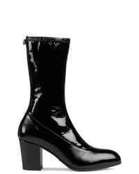 Botas a media pierna de cuero negras de Gucci