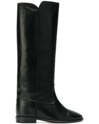 Botas a media pierna de cuero negras de Isabel Marant