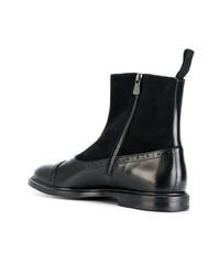 Botas brogue de cuero negras de Dolce & Gabbana