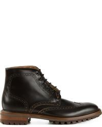 Botas brogue de cuero negras de Paul Smith