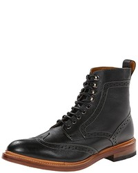 Botas brogue de cuero negras de Stacy Adams