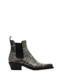 Botas camperas de cuero en gris oscuro de Calvin Klein 205W39nyc