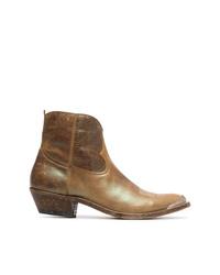 Botas camperas de cuero marrónes de Golden Goose Deluxe Brand