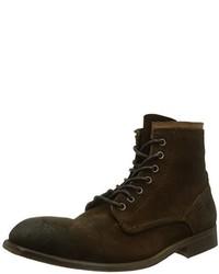 Botas casual de ante en marrón oscuro de H By Hudson