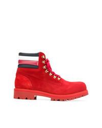 Botas casual de ante rojas