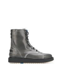 Botas casual de cuero en gris oscuro de Diesel