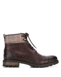 Botas casual de cuero en marrón oscuro de Tommy Hilfiger