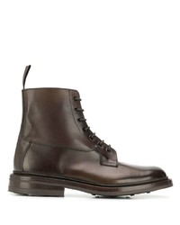 Botas casual de cuero en marrón oscuro de Trickers
