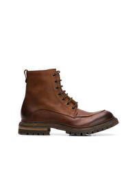 Botas casual de cuero marrónes de Del Carlo
