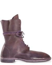 Botas casual de cuero marrónes de Guidi