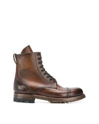 Botas casual de cuero marrónes de Silvano Sassetti