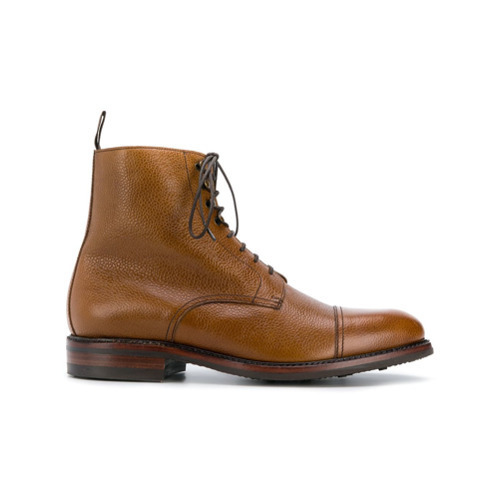 Botas Casual de Cuero Tabaco de Berwick Shoes