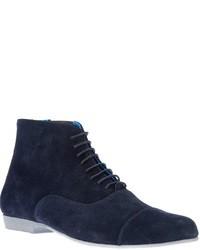 Botas de ante azul marino de Swear