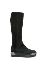 2047c6a86 Comprar unas botas de caña alta de ante en gris oscuro  elegir botas ...