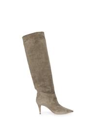 0c69250fd Comprar unas botas de caña alta de ante grises  elegir botas de caña ...