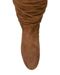 Botas de caña alta de ante marrónes de Coach