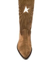 Botas de caña alta de ante marrónes de Golden Goose Deluxe Brand