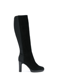 Botas de caña alta de ante negras de Geox
