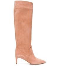 Botas de caña alta de ante rosadas de RED Valentino