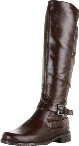 Botas de caña alta de cuero en marrón oscuro de Aerosoles