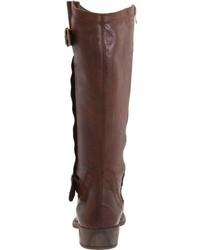 Botas de caña alta de cuero en marrón oscuro de Eric Michael