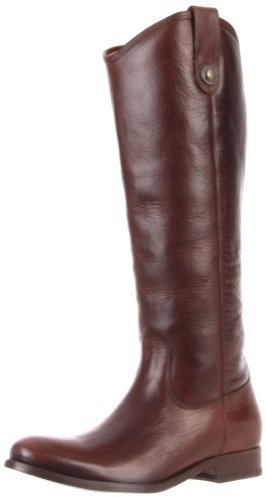 Botas de caña alta de cuero en marrón oscuro de Frye