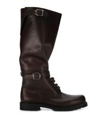 Botas de caña alta de cuero en marrón oscuro de Holland & Holland