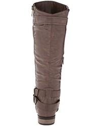 Botas de caña alta de cuero en marrón oscuro de Rampage
