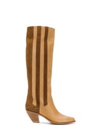 Botas de caña alta de cuero marrón claro de Golden Goose Deluxe Brand