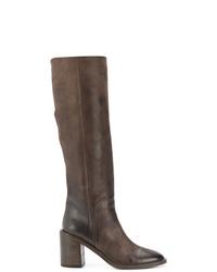 Botas de caña alta de cuero marrónes de Marsèll