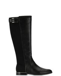 Botas de caña alta de cuero negras de Calvin Klein