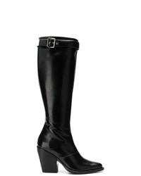 Botas de caña alta de cuero negras de Chloé