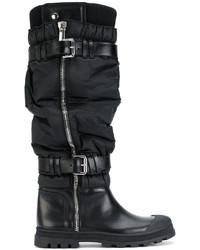 Botas de caña alta de cuero negras de Diesel Black Gold