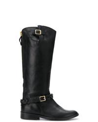 Botas de caña alta de cuero negras de Golden Goose Deluxe Brand