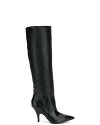 Botas de caña alta de cuero negras de Kendall & Kylie