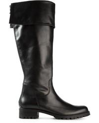 Botas de caña alta de cuero negras de P.A.R.O.S.H.
