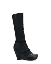 Botas de caña alta de cuero negras de Rick Owens