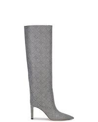 Botas de caña alta de cuero plateadas de Jimmy Choo