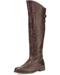 Botas de cana alta en marron oscuro original 2459679